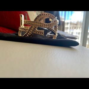 YSL Bronze Cuff Bracelet